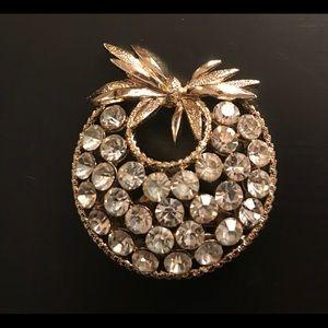 Pineapple Shaped Rhinestone Broach *2/$25